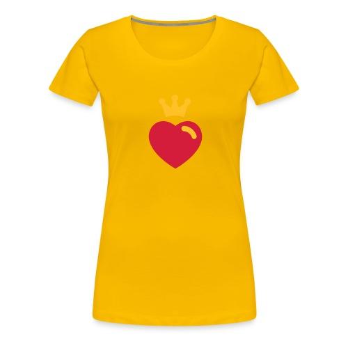 Klassisk damtop med hjärta - Premium-T-shirt dam