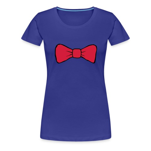 Bow Tie Continental Classic Women's (Aqua)  - Women's Premium T-Shirt