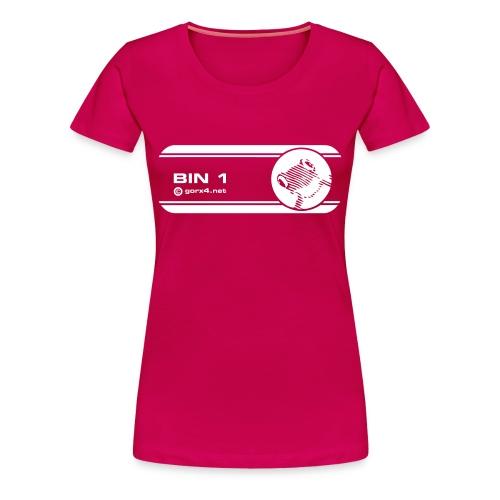 bin ein frosch girl pink - Frauen Premium T-Shirt