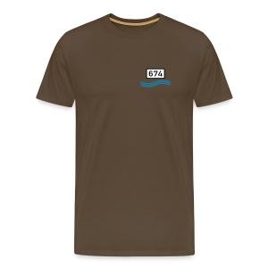 Rheinkilometer 674 - Männer Premium T-Shirt