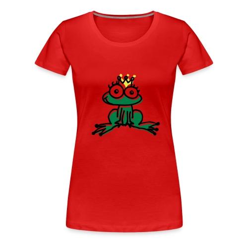 Frauen Girlieshirt - rot - Froschkönig - Frauen Premium T-Shirt