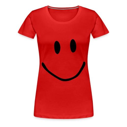 Smiley gross - Frauen Premium T-Shirt