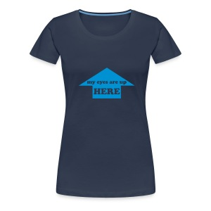 my eyes plain navy - Women's Premium T-Shirt