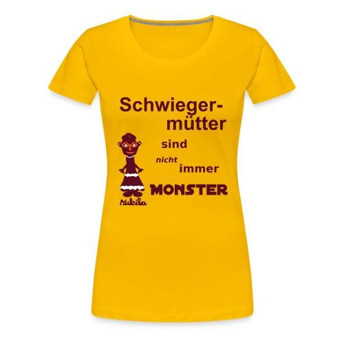 Schwiegermutter - Shirt gelb - Frauen Premium T-Shirt