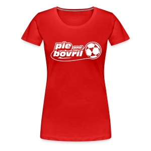 The P&B name + number tee (white text) - Women's Premium T-Shirt