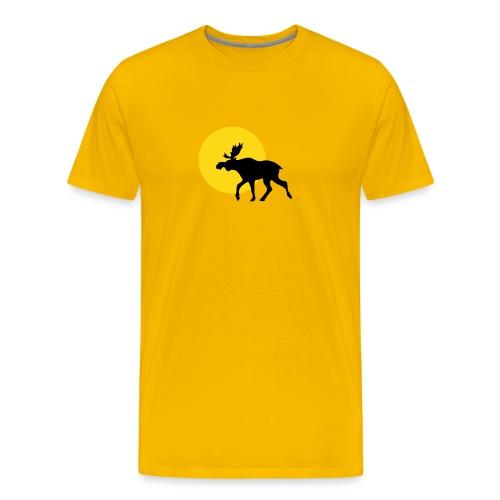Gelb Elch Sonne - Männer Premium T-Shirt