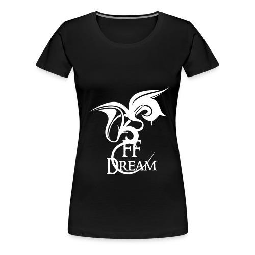 Classique FFDream - logo blanc - T-shirt Premium Femme