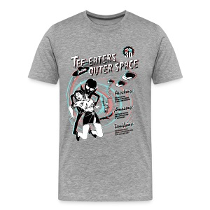 Tee-Eaters from Outer Space (3D) - Men's Premium T-Shirt