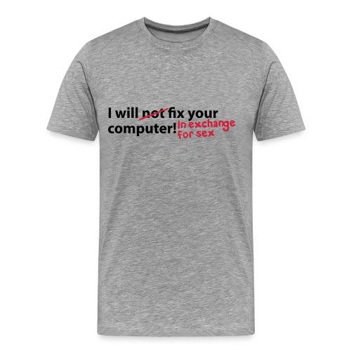 EXCHANGE - Mannen Premium T-shirt