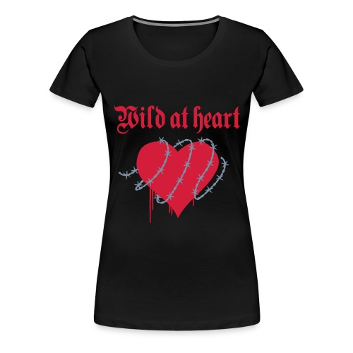 Wild at Heart (red & silver) - Women's Premium T-Shirt