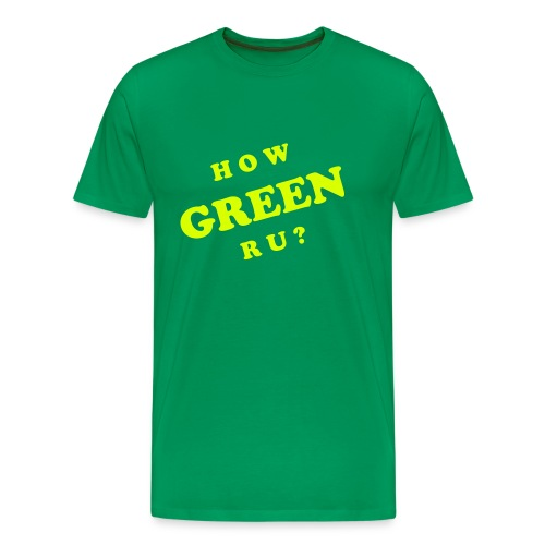 How green are you T-shirt - Mannen Premium T-shirt