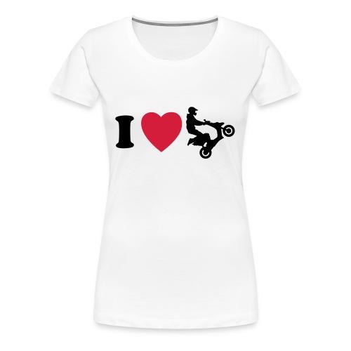I heart scooter (naisten) - Naisten premium t-paita