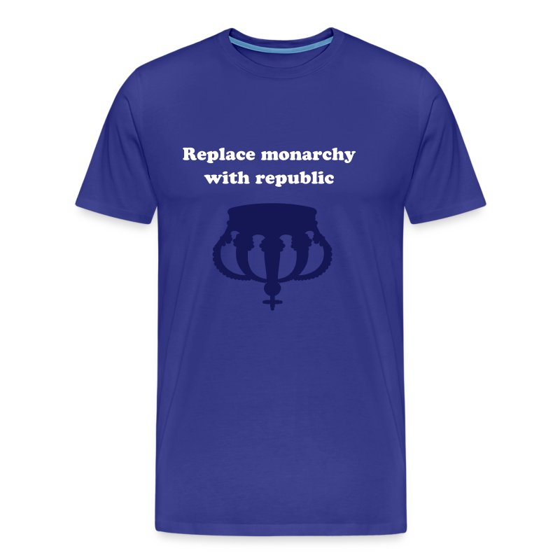 Replace monarchy with republic - Herre premium T-shirt