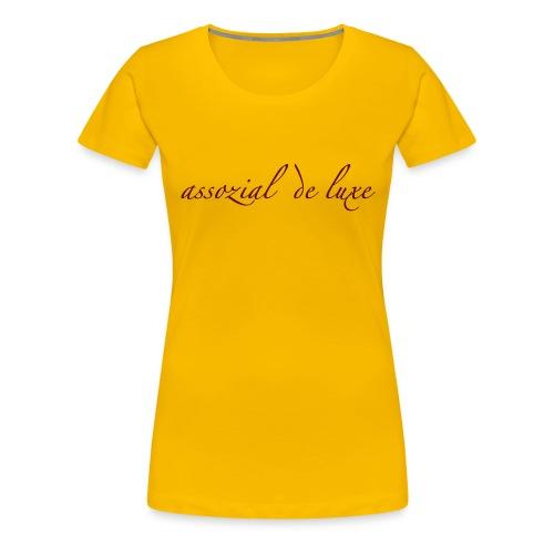ADL-TL-STYLE|F| Burgunder|Flavour - Frauen Premium T-Shirt