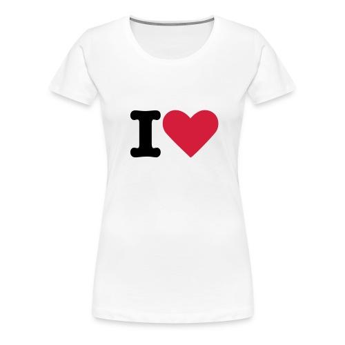 I Heart Ladies T-Shirt - Women's Premium T-Shirt