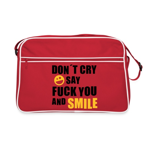 don´t cry, only smile - Retro Tasche