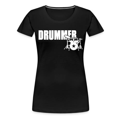 Drummer (Girlie) - Frauen Premium T-Shirt