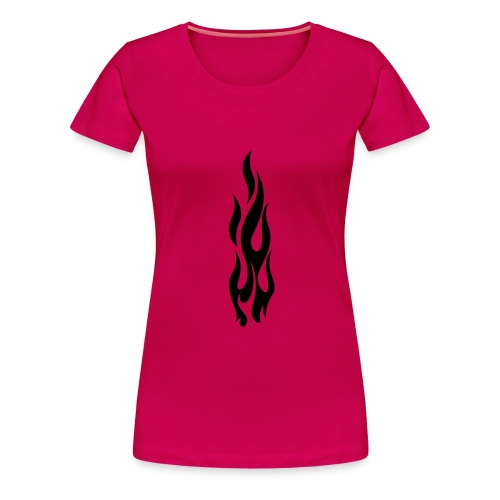 Flames (black) - Women's Premium T-Shirt