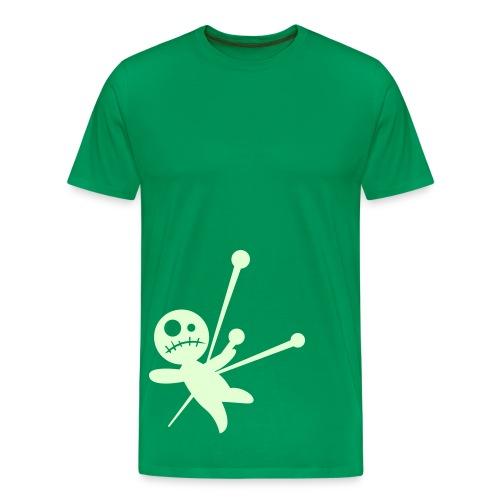 Voodoo Glow Shirt - Glowing Front & Back Print - Men's Premium T-Shirt