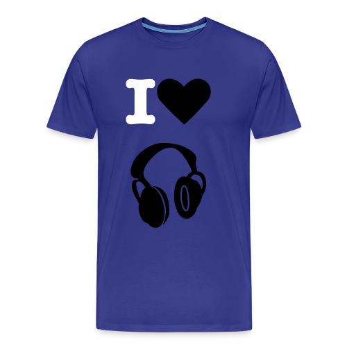 I love Music - Maglietta Premium da uomo