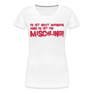 Mischling text - red/white girlie - Frauen Premium T-Shirt