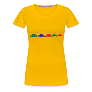 Yellow cars Women's Tees
