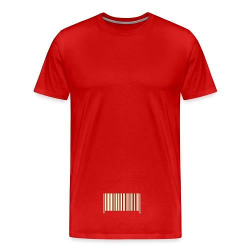 Strekkode - Premium T-skjorte for menn