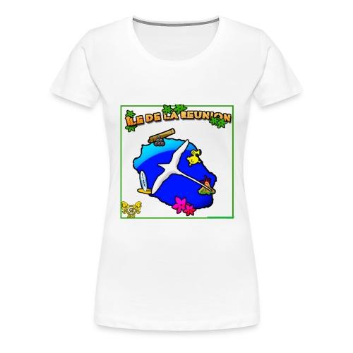 ILE DE LA REUNION PAILLE EN QUEUE - T-shirt Premium Femme