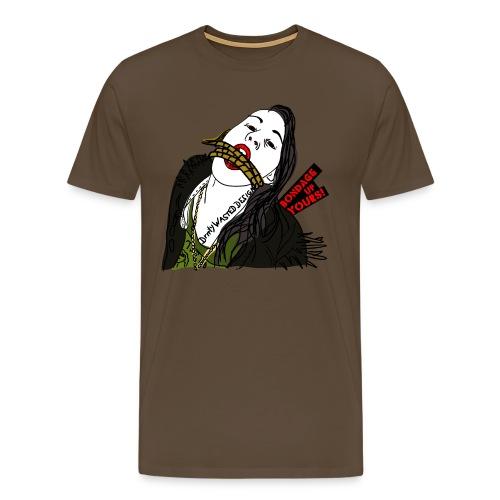 Bondage Up Yours - brown shirt - Männer Premium T-Shirt