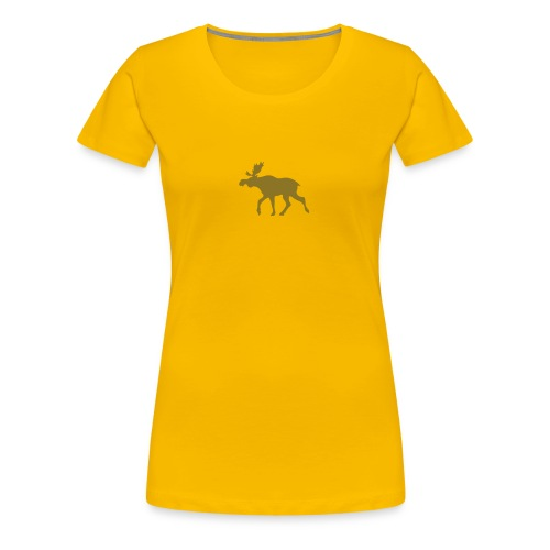 Golden Elch rosa - Frauen Premium T-Shirt