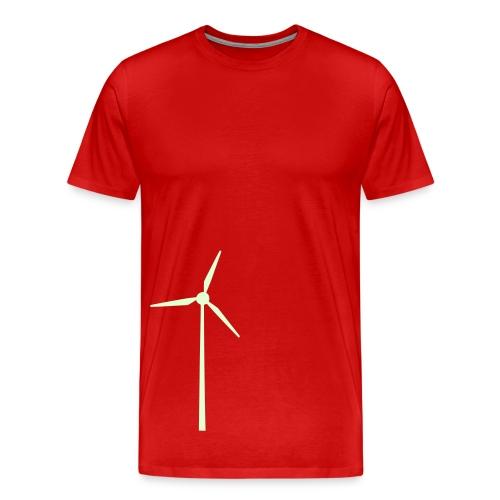 Vindmølle - Premium T-skjorte for menn