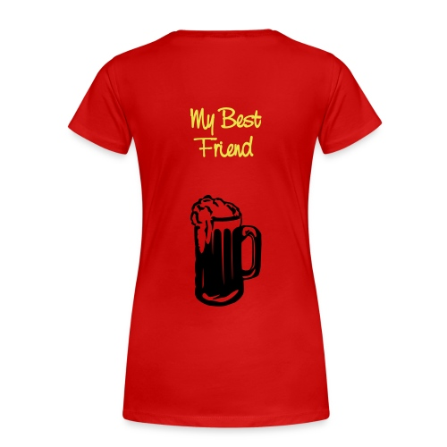 (D) - Dame premium T-shirt
