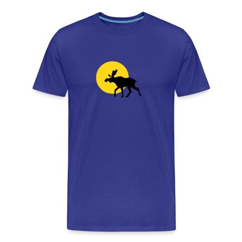 Bleu Elch Sonne - Männer Premium T-Shirt