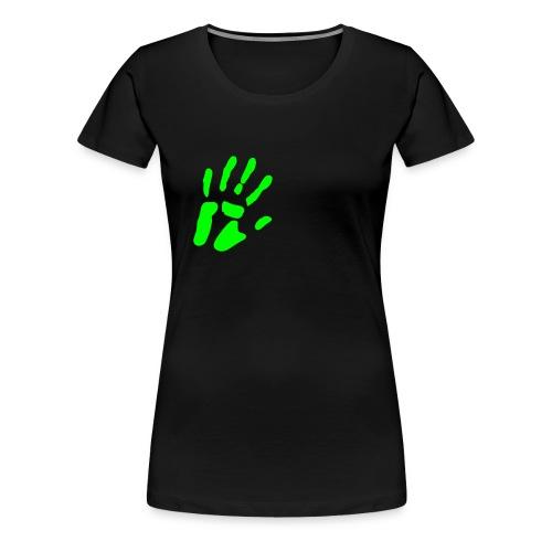 Touching Hand Herre - Dame premium T-shirt