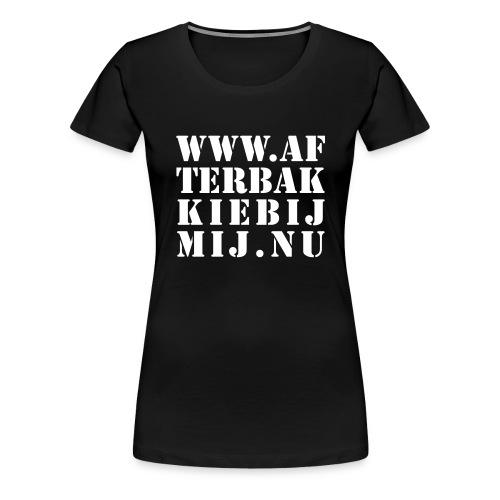 Afterbakkie, wit flex - Vrouwen Premium T-shirt