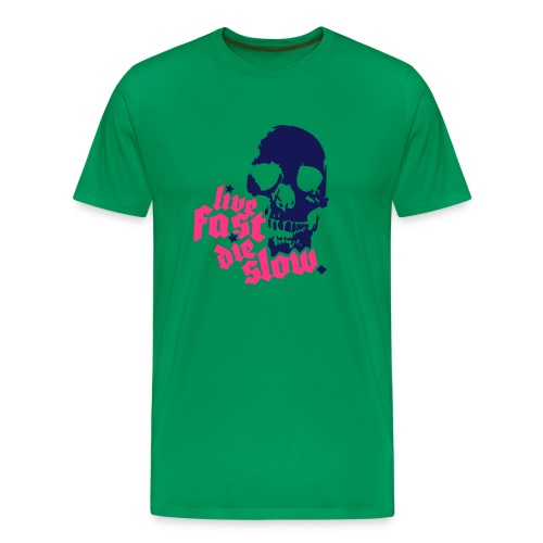 Live Fast Die Slow-shirt - Men's Premium T-Shirt