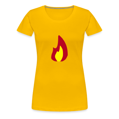 Light pink Fire - Flame - Hot - Burn Women's Tees