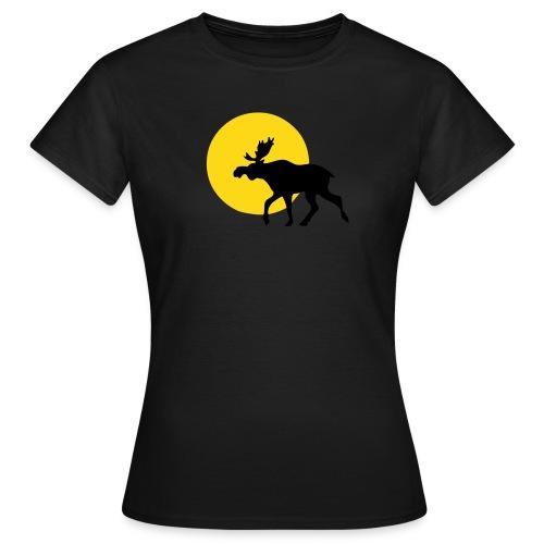 Braun Elch Sonne Mädchen - Frauen T-Shirt