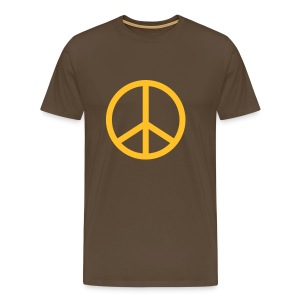 Peace Brown Comfort T - Men's Premium T-Shirt