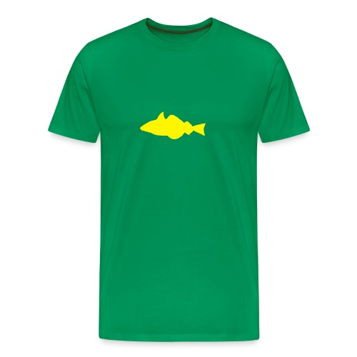 Fisch - grün/gelb - Männer Premium T-Shirt