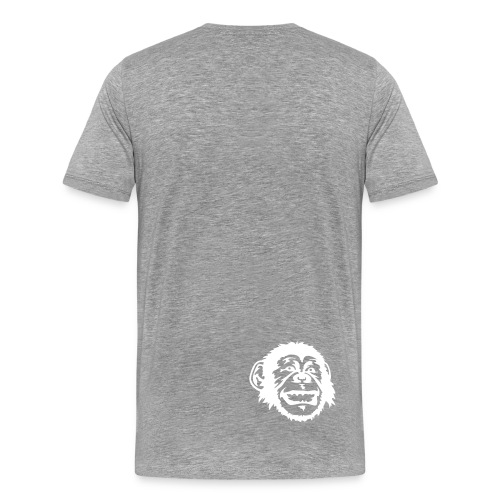 HEADPHONES GREY - Herre premium T-shirt