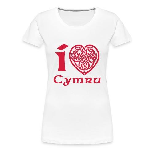 I Love Cymru T Shirt - Women's Premium T-Shirt