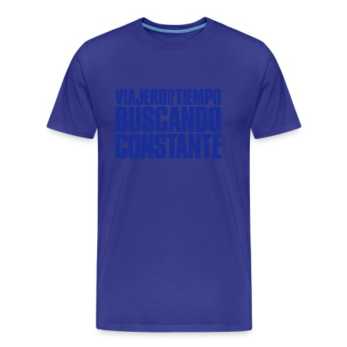 Viajero en el tiempo buscando constante - Camiseta premium hombre