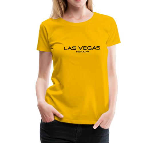 Girlie-Shirt LAS VEGAS, NEVADA gelb - Frauen Premium T-Shirt