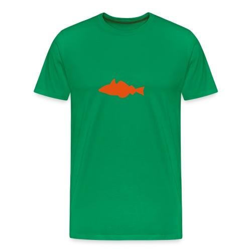 Fisch - grün/oransje - Männer Premium T-Shirt