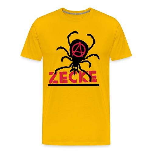Zecke - gelb shirt - Männer Premium T-Shirt