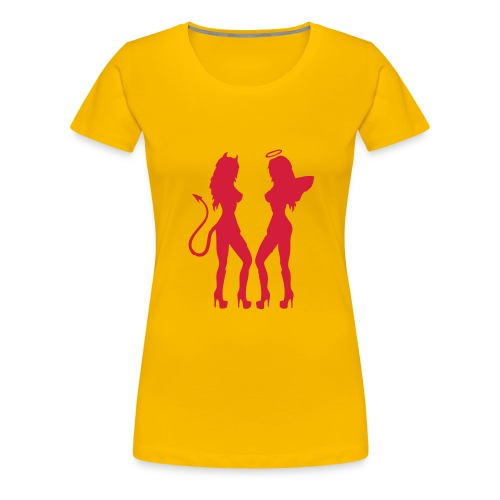 devil/Angel - Dame premium T-shirt