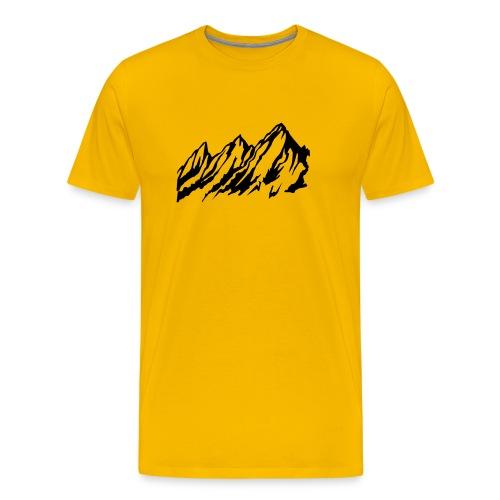Mountains - yellow - Mannen Premium T-shirt