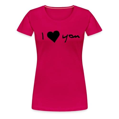 Shirt -love You - Frauen Premium T-Shirt