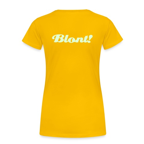 Vrouwen Premium T-shirt - Blont! back side